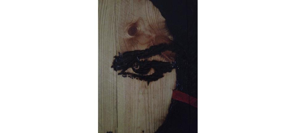 Portrait féminin1 - brûlure sur bois-Peinture Nov2013 by BvLn